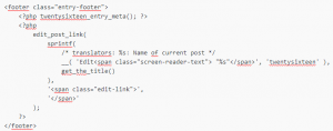 wordpress code screenshot 2
